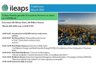 Un interessante incontro sulle Foreste Urbane e i Servizi Ecosistemici promosso da ILEAPS